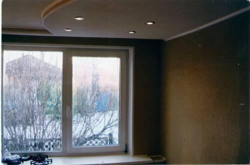 Двухуровневый потолок из